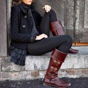 RARE Frye Paige Clovertab VintageLeather Boots